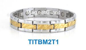High power mens magnetic Titanium bracelet 5000 gauss magnets