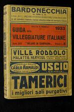 Ferrovie Terme Alberghi Milano Villeggiature Italiane Redaelli 1933