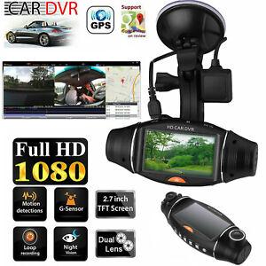 Dual-Lens-GPS-Camera-1080P-Car-DVR-Dash-Cam-Video-Recorder-G-Sensor-Night-Vision