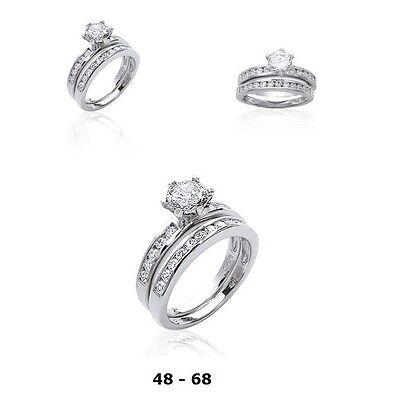 Bijoux Alliance Femme T58 Rail de Diamant Cz 2.5 mm Argent Massif 925