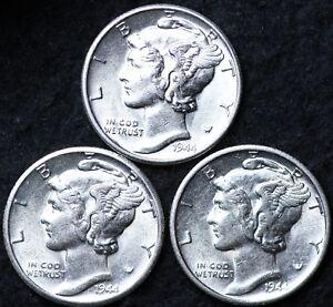 MERCURY DIMES 3 SETS AVAILABLE 1944 /& 1944-D