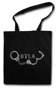 OUTLAW HANDCUFFS STOFFTASCHE Anarchie Gangster Handschellen Anarchy Cuffs