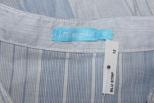 mclaughlin Falten 12 l Tunika Ndelstreifen Blau shirt Lätzchen Smoking J dpq7Hd