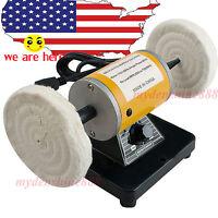 Us Sale 260w Dental Jewelry Mini Polishing Machine Bench Lathe Polishing Motor