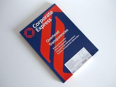 Neu 50x Original Corporate Express Ohp Inkjet Folien Tintenstrahldrucker Folie
