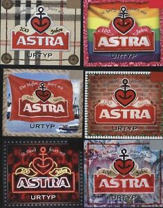 unused Pauli 6 Labels GERMAN Beer ASTRA soccer club FC St Hamburg