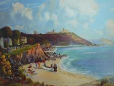 A3 FALMOUTH seaside holiday Great Western Railway train 1930 POSTER sun sand sea