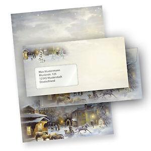 Weihnachtsbriefpapier-WINTER-AQUARELL-Briefpapier-fuer-Weihnachten-geschaeftlich