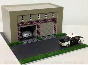 Ho scale building garage 1 87 for ho gauge model train for Garage seguin 87