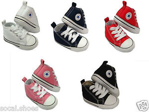 69eeede8a0a8 Converse Kids Chuck Taylor First Star Core Crib Soft Sole Baby Shoes ...
