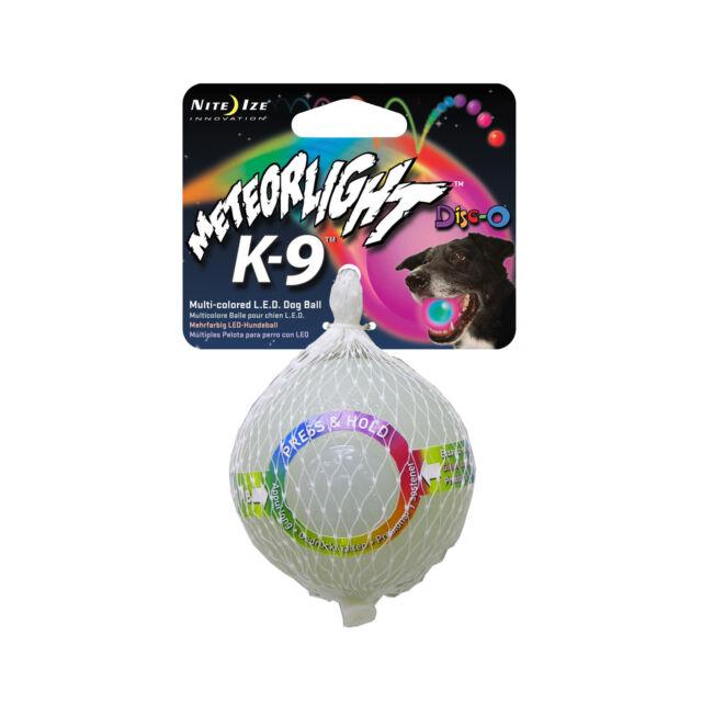 Nite Ize Meteorlight K9 LED Ball Disco Glowing Fetch Dog Toy Rubber Light-Up