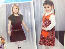 Simplicity Project Runway Toddler Jumper 1/2 1 2 3  Sewing Pattern 2574 UnCut
