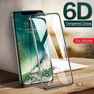 Hartglas-Displayschutzfolie-IPHONE-12-11-Pro-Max-Mini-X-XR-XS-Voll-Abdeckung