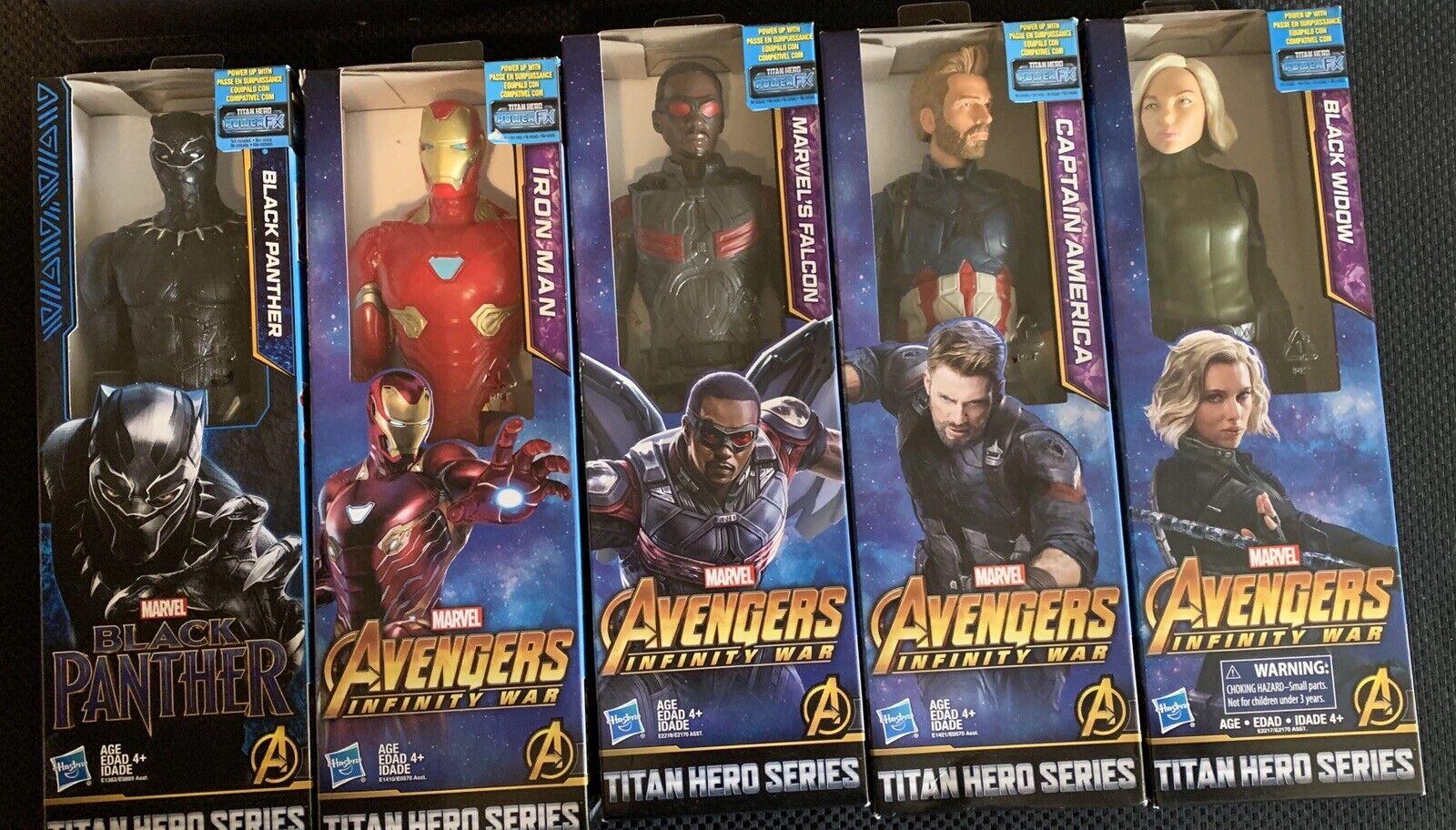 2018 Marvel Avengers Infinity War Titan Hero Series 12  Action Figures Set of 5