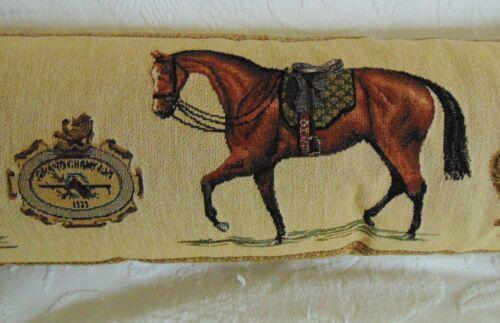 neu Pferde Zugluftkissen SOFAKISSEN Pferde REITEN Jagd Gobelin 90x15x20 MARS/&M.