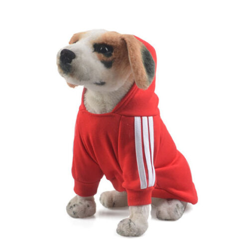 Pet Dog Coat Jacket Fall Winter Clothes Puppy Sweater Hooded Clothing Apparel UK 7