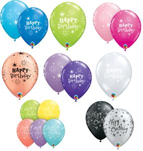 6-x-27-5cm-11-034-HAPPY-BIRTHDAY-SPARKLE-Qualatex-Latex-Balloons-Party-Themes