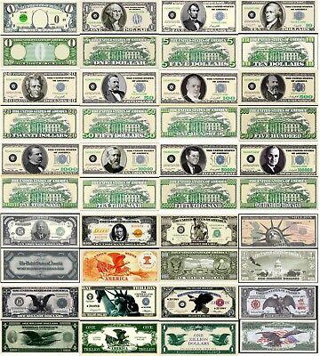 FREE SLEEVE Big Fat Zero Dollar Bill Fake Play Funny Money Novelty Note