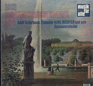 Bach, Adolf Scherbaum, Karl Richter – Brandenburgische Konzerte Nr. 1, 2, 5