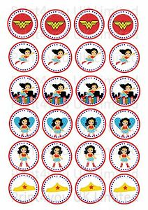 24-Edible-cake-toppers-decorations-ND1-Wonder-Woman-Super-Hero-Girls