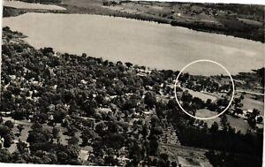 Vintage Postcard - Aerial View Round Lake Motor Court New York NY #1796