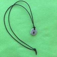 Antler Necklace with Engraved Deer Track