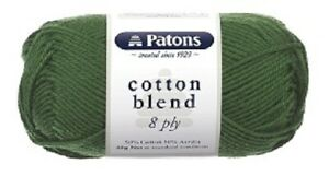 PATONS-Cotton-Blend-Soft-Knitting-Crochet-Yarn-50-gram-8-Ply-Mixed-Colours