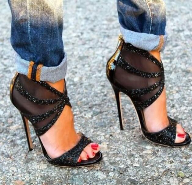 Womens Oxford European Oxford Stilettos Cross Strap High Heel shoes Sz