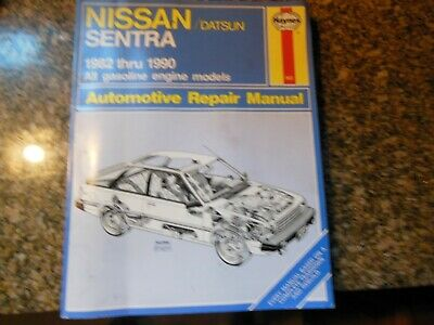 HAYNES 1982-1990 NISSAN DATSUN SENTRA AUTOMOTIVE SERVICE REPAIR MANUAL #982