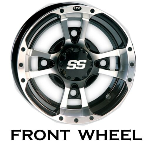 TWO 10x5 4//144 3+2 ITP SS112 Rims Wheels some Kawasaki Suzuki Can Am Arctic Cat