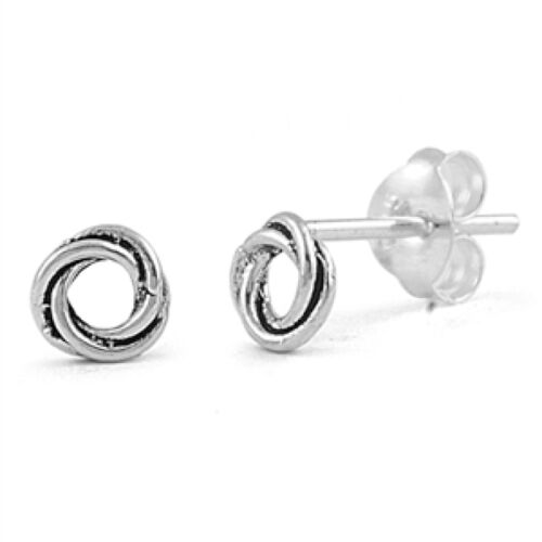 Argent Clous d/'oreilles ronds argent Sterling 925 BEST DEAL simple bijoux 5 MM