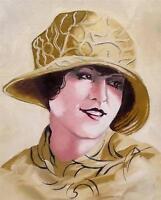 Original Painting Oil on Canvas Portrait  by GREGORY TILLETT : Golden Glamour