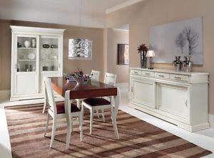 Credenza credenzone buffet madia classica soggiorno bianco for Foto arredamento casa classica