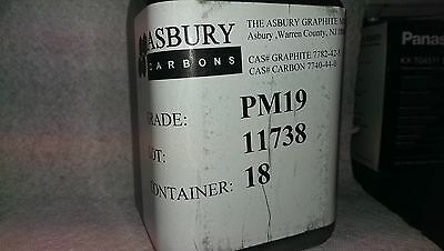 1 LB, GRAPHITE POWDER, ASBURY PM19, 95.5%+ carbon, natural graphite, FREE SHIP