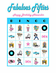Image Is Loading Fabulous Fifties 50s 1950 Personalized Birthday Party Game