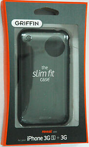 NEW-Griffin-REVEAL-ultra-slim-clear-black-polycarbonate-shell-for-iPhone-3G-3GS
