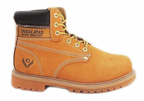 MEN'S WATER-RESISTANT 5  CONSTRUCTION WORK BOOT NOT STEAL TOE LEATHER SUEDE