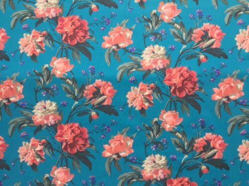 Liberty Piccadilly Popelina-decadente florece B 100/% Tela De Algodón