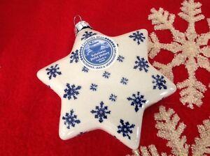 Image Is Loading New Boleslawiec Polish Pottery Christmas Ornament Snowflake Star