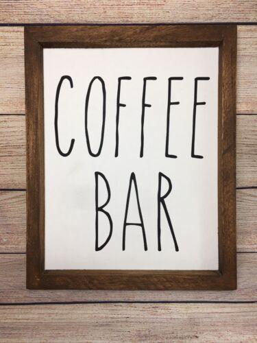 Coffee Bar Wood SignKitchen SignFarmhouse DecorTiered Tray Decor