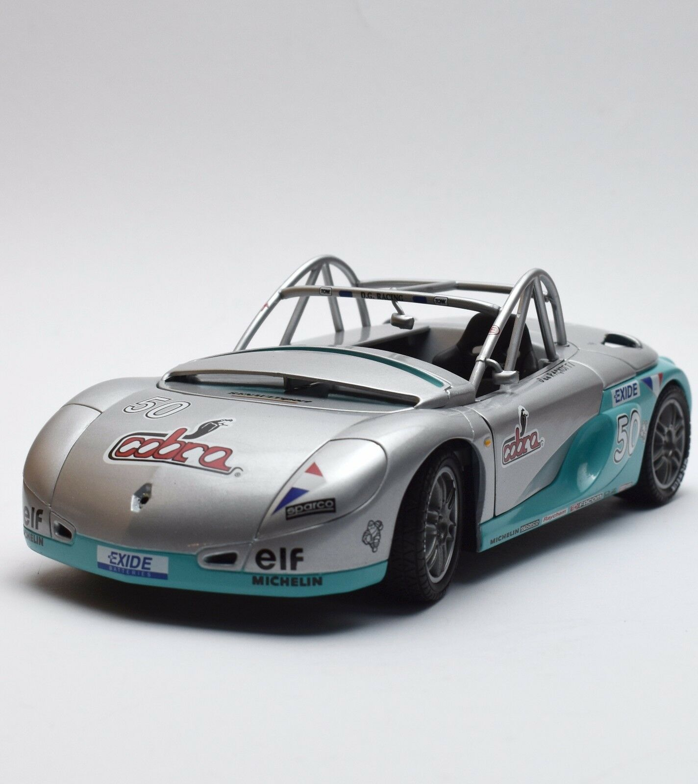 Anson RACING Renault Spider auto sportive in argentoo laccato, OVP, 1 18, k006