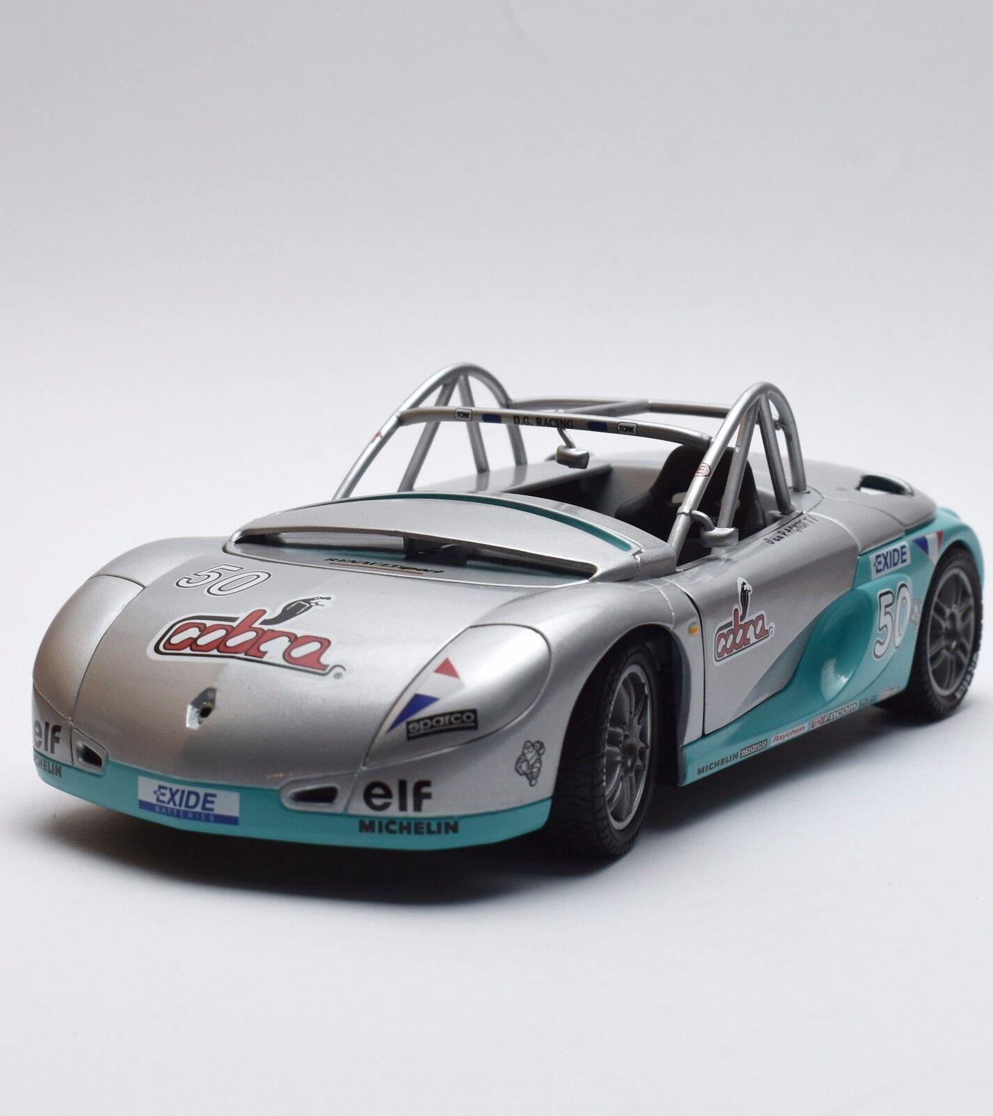 Anson Racing Renault Spider Voiture de sport en argent laqué, neuf dans sa boîte, 1:18, k006 | Vendre Prix
