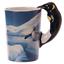 thumbnail 44 - Animal Shaped Handle Ceramic Mug Tea Coffee Cup Novelty Gift Jungle Tropical