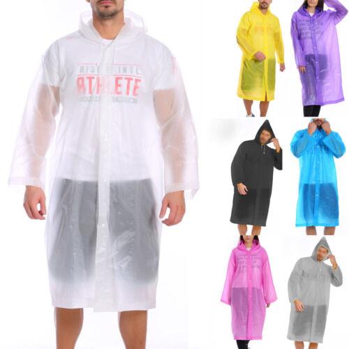 Unisex Waterproof Jacket PE Hooded Raincoat Rain Coat Poncho Rainwear Outdoor