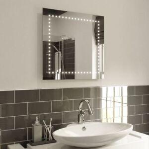 Specchio Bagno 60 X 60.Specchio Bagno Illuminato Led Parete Specchio Quadrato Abby 60 X