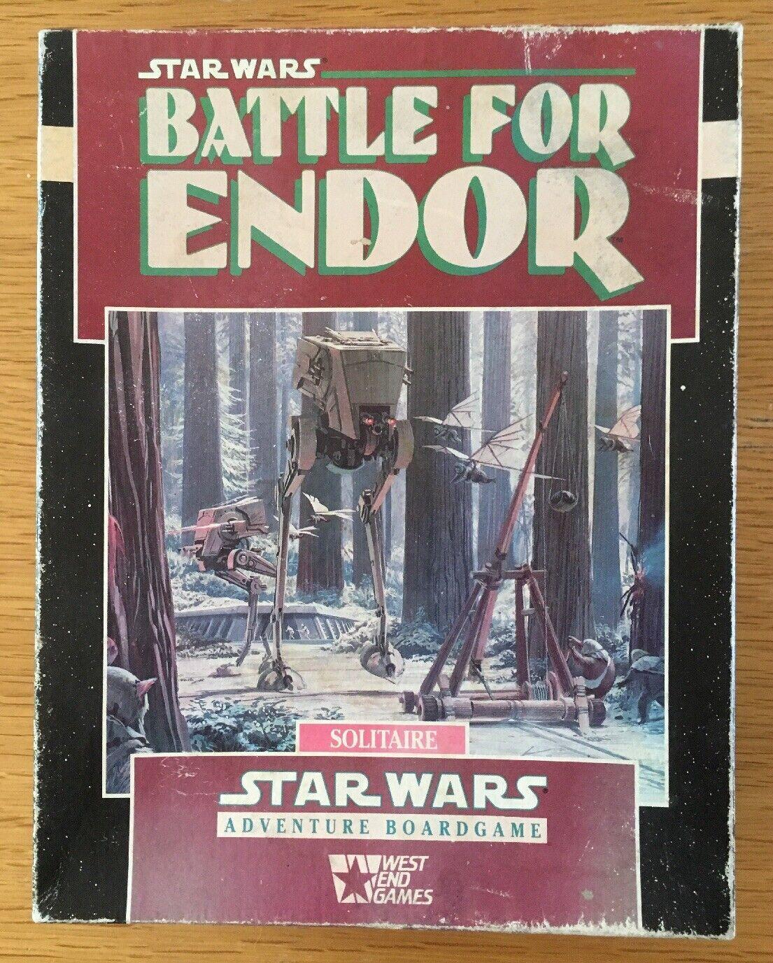 West End Juegos Estrella Wars batalla por Endor 40206 Aventura Juego de mesa COMPLETO