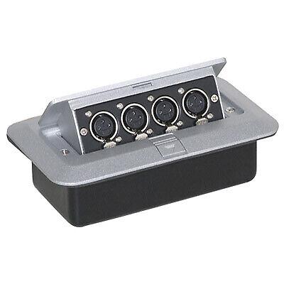 Pop-up AV Combination Plate with 4 x 3 Pin XLR Sockets