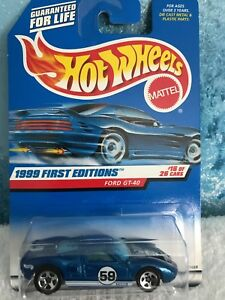 Hot Wheels Ford GT-40 1999 First Editions 16 of 26 Blue