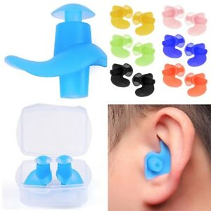 Details about 2 Pair Silicone Ear Plug Surf Swimming Pool Accessories  Waterproof Diving Soft