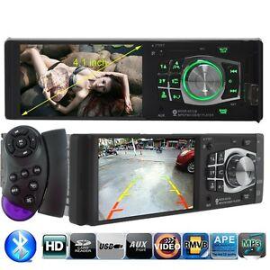 4.1 HD Bluetooth Car Radio Audio Stereo MP3 Player FM/USB Steering Wheel Control